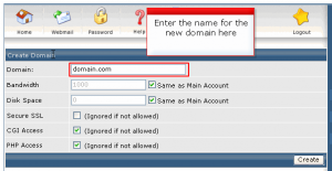 add new domain name 04