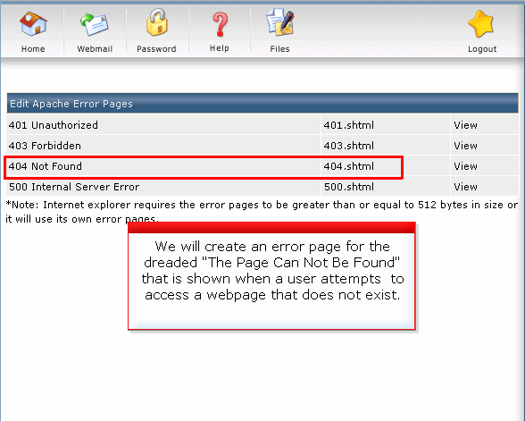 how to create a custom error page - Website Solution