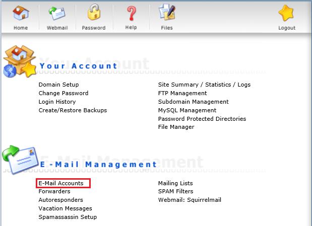 delete mail account 002