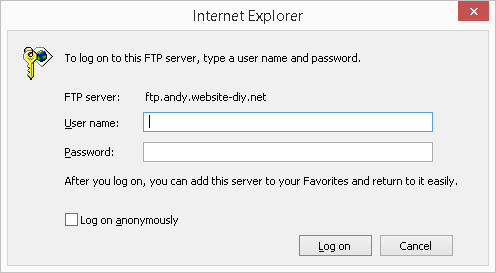 ftp in ie002