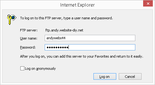 ftp in ie003