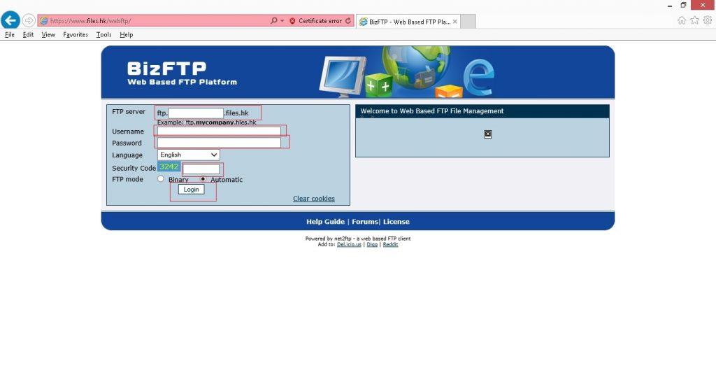 web based ftp002