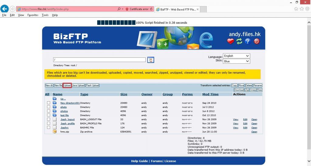 web based ftp005
